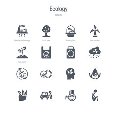 set of 16 vector icons such as  ,  from ecology concept. can be used for web, logo,