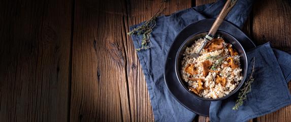 Kaszotto - polskie risotto z kaszy jęczmiennej z grzybami