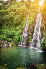Banyumala twin waterfall in Bali, Indonesia.