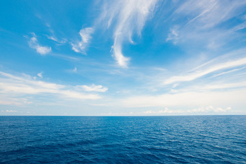 Perfect beautiful seascape sky with cloud