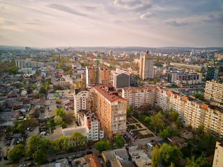 Widok z lotu ptaka drone miasta Kiszyniów