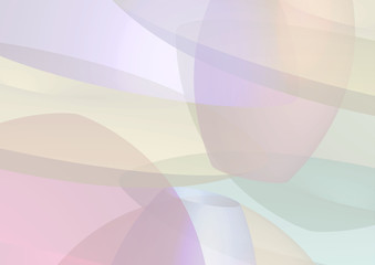 Abstract background with transparent shapes overlapping each other. Horizontal composition A4