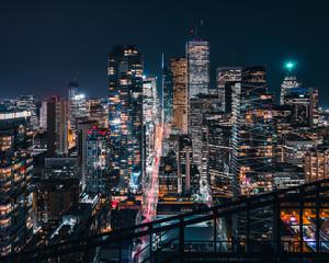 Epicka panoramę miasta Toronto w Kanadzie