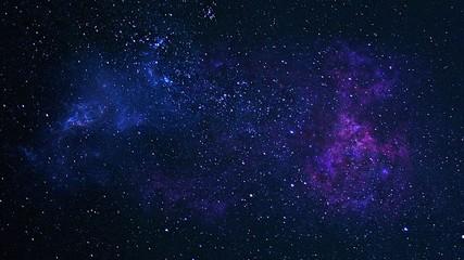 Planety, galaktyka, wszechświat, gwiaździste niebo, galaktyka Drogi Mlecznej z gwiazdami i pyłem kosmicznym we wszechświecie, fotografia o długiej ekspozycji, z ziarnem.