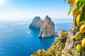 Famous Faraglioni Rocks, Capri Island, Italy