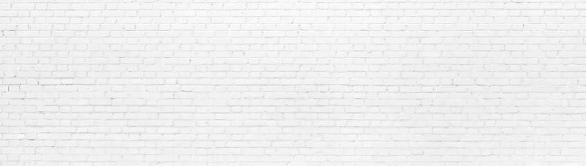 White brick Wall panoramic background