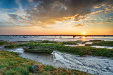 An old boat in the salt marsh at West Mersea