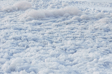 white foam texture background look like clouds.
