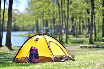 Wczesne lato, obóz nad jeziorem