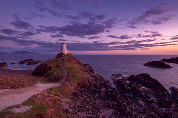 sunset on anglesey wales uk