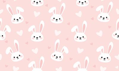 Bunny cartoon print for kids seamless texture
