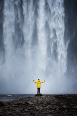 epic waterfall skogafoss in iceland