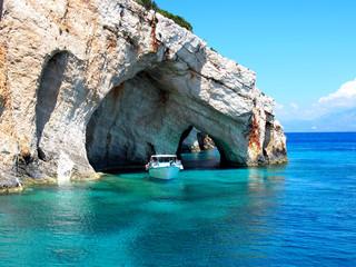 Niebieskie jaskinie Zakynthos