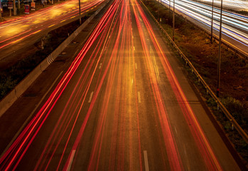 Road, power line, car, technology, speed, background image, blur