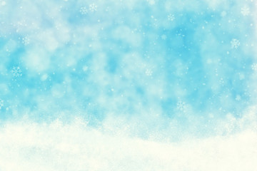 Abstract Snowy Winter Illustration Background