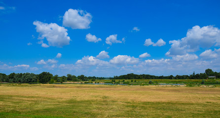 A plain on the Loire river valley, on a hot summer day