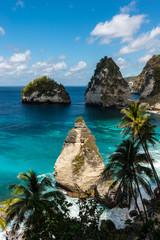 Diamond beach. Beautiful exotic beach. Nusa Penida, Bali Indonesia