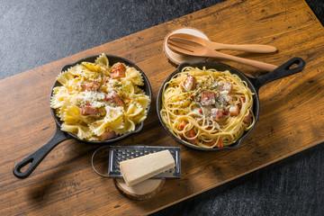 チーズパスタ Cheese pasta food to eat outdoors