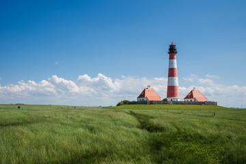 Leuchtturm Westerheversand; Halbinsel Eiderstedt; Schleswig-Holstein