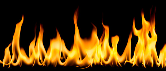 Flame on a black background