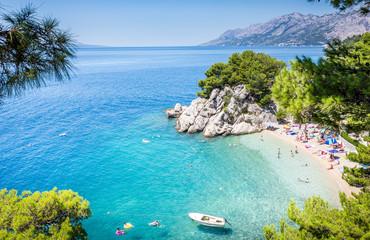 Brela plaża dekoracje w Chorwacji