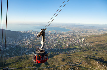 cable going to the top of table mountain