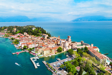 Scaligero Castle aerial view, Sirmione