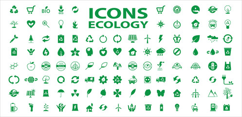 Set of ecology icons stock vector. Eps 10 vector.