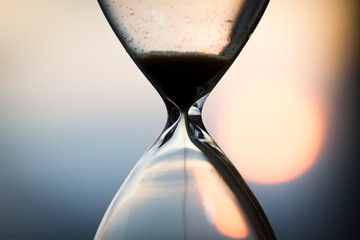 Hourglass in the sunset