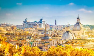 panoramę Rzymu, Włochy