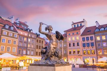 Rzeźba Syrenki Warszawskiej na Rynku Starego Miasta