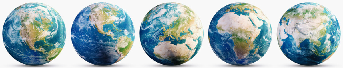 Planet Earth geography map set