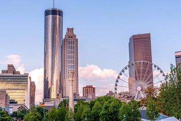 Sunset in Atlanta at Centennial Olympic Park