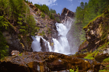 Cascate di Lillaz, Parco Nazionale Gran Paradiso, Valle d'Aosta, Italia