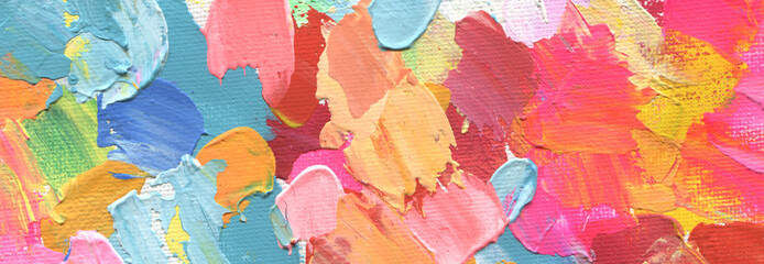 Abstract acrylic and watercolor painting. Canvas background.