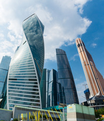 Modern skyscrapers in Moscow, Russia