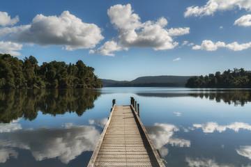 Lake Mapourika West Coast Nowa Zelandia