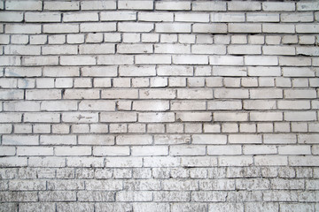 The texture of the old brickwork of gray bricks.