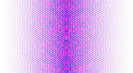 Seamless geometric vector.Blue and pink colors triangles on white background.