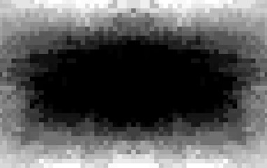 Pixel hole art monochrome abstract background