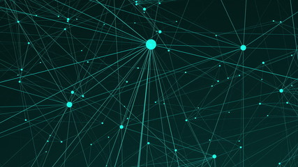 Text Content of many connecting dots in the space, modern digital background for internet, 3d rendering computer generated backdrop