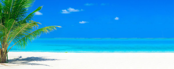 tropical beach in Maldives. sea landscape