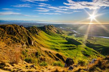 Wschód słońca przy Te Mata Peak, Nowa Zelandia