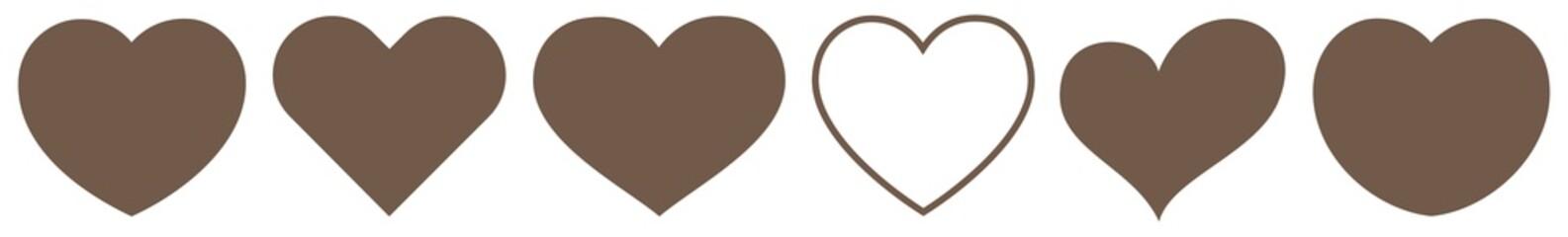 Heart Brown   Love   Logo   Variations