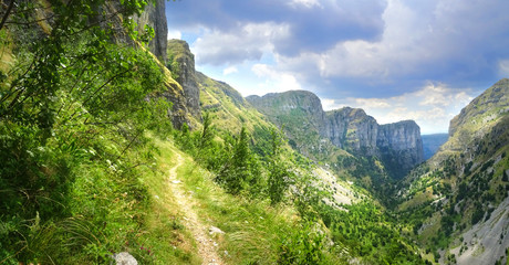 A breathtaking panoramic view of Mountain Tymfi in Epirus - Greece