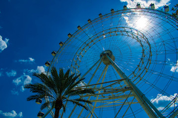 Orlando, Florida. July 05, 2019 Partial view of Big wheel in International Drive area. 3