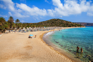 Vai beautiful beach. Crete, Greece.