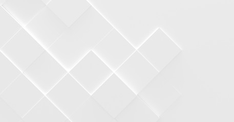 White Business Style Background (3D Illustration)