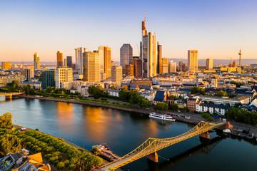 Frankfurt am Main. Cityscape image of Frankfurt am Main during sunset.