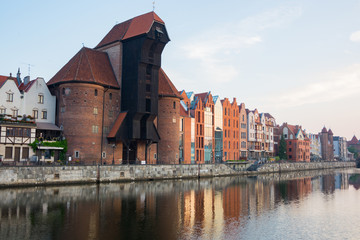 travel photo of old gdansk city, europ architecture